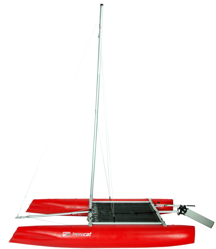 catamaran rig sailing folding mast jack-knife