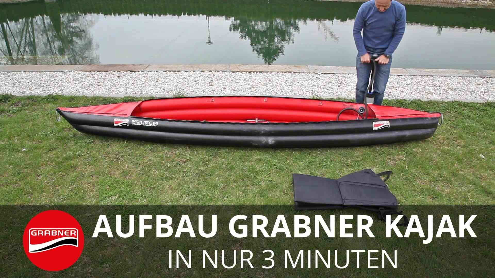 Simple assembling Grabner inflatable kayak in just 3 minutes